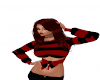 black,red stripe sweater
