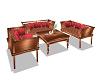 Bronze Couch Set 6P