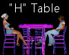 """""""H"""" Club Table for 4"""