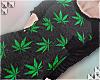 † pkt tee / weed /blk