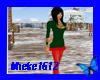 [M] xmas dress green red