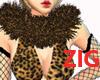 Leopard Fur Collar