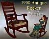 Antique 1900 Rocker Brn