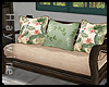 :Floral Pillows & Couch