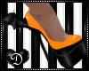 {D} Bat Wing Heel ORANGE