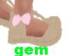 [g] kids tan/ pink shoes