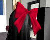 big red hair bow