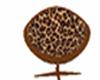 leopardskin cuddle chair