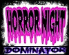 Horror Night sign