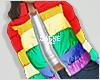 Rainbow puffer coat