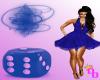 (DD) sexy grl blue dress
