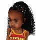 kids braids white beads