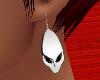 *TJ* Alien Earrings SBk
