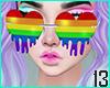 Dripping Rainbow Hearts