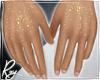Gold Glitter Hands