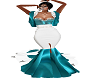 teal wedding gown2