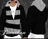 J/ Hoodie Black/Grey