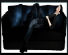 IVI Black Leather Couch