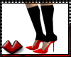 (V) Sock Pumps - Red