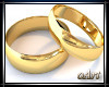 Gold wedding ring +S (M)