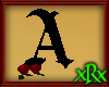 Gothic Letter A Roses
