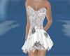 black white short dress