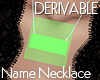 Derivable Name Necklace