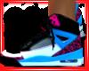 pink and blue jordans