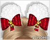 Christmas Poms Red