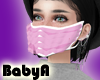 ! BA White Ruffle Mask P