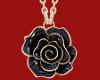 Black Rose Earrings