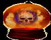 Fire Skull In Globe