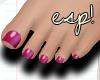 esp!Sweet fucsia feet
