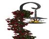 Rose garden torch lamp