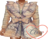 Bow Coat Tattered