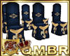 QMBR Chairs Azure & Gold