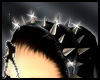~spiked leather headband