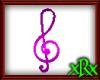 Note Treble Clef Purple