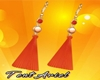 Coral Earrings ◄TAr