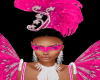Mardi Gras Pink Mask