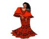 Red African Kimono