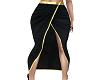 Black Front Split Skirt