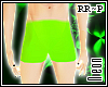 :Neon Green Shorts RR~P