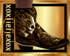 [L] SKULL Gold Boots M