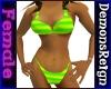Bikini -Grn/Yel Striped