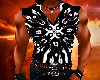 MUSCLE SHIRT/BLK TRIBAL