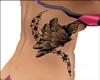 butterfly side tattoo