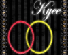 Neon Red/Yellow Hoops