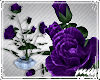 !Purple Roses China pot
