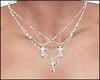 3 Cross Triple Necklaces